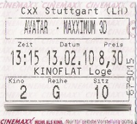 Avatar Eintrittskarte