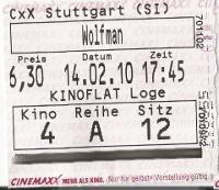 Wolfman Eintrittskarte